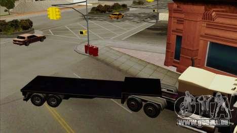 Flat Trailer für GTA San Andreas linke Ansicht