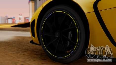 Koenigsegg Agera 2011 für GTA San Andreas zurück linke Ansicht