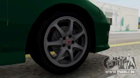 Acura Integra Fast and Furious pour GTA San Andreas sur la vue arrière gauche