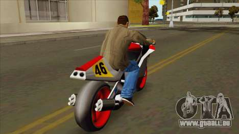 NRG-500 Al_Piso pour GTA San Andreas sur la vue arrière gauche