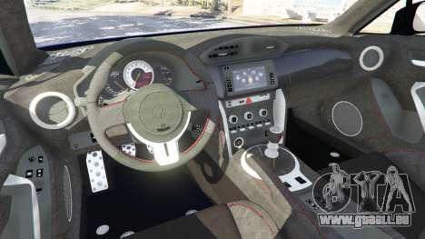 GTA 5 Toyota GT-86 [Beta] arrière droit vue de côté