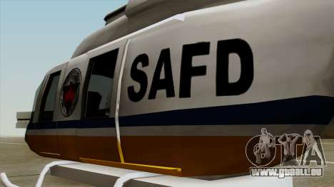 Rain Dance Maverick für GTA San Andreas Rückansicht