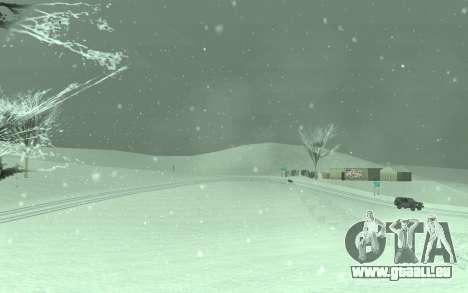 L'Hiver Timecyc pour GTA San Andreas troisième écran