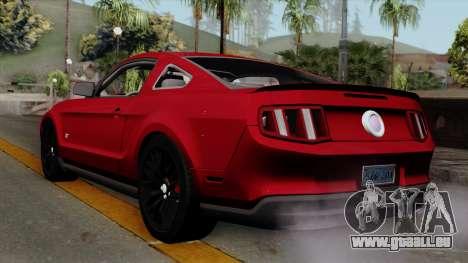 Ford Mustang GT 2010 pour GTA San Andreas laissé vue