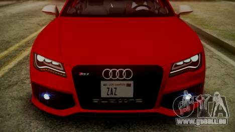 Audi RS7 2014 pour GTA San Andreas salon