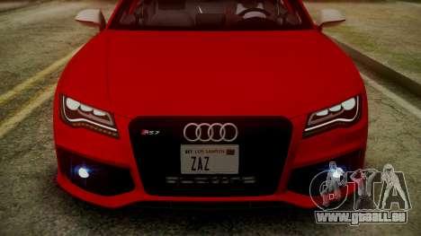Audi RS7 2014 pour GTA San Andreas salon