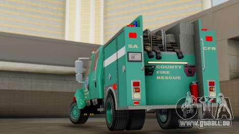 SACFR International Type 3 Rescue Engine pour GTA San Andreas laissé vue