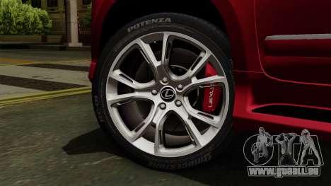 Lexus GX460 2014 v2 pour GTA San Andreas sur la vue arrière gauche
