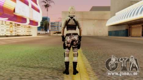 Wild Child from Resident Evil Racoon City pour GTA San Andreas troisième écran