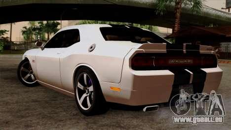 Dodge Challenger SRT8 392 2012 Stock Version 1.0 pour GTA San Andreas laissé vue