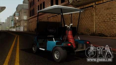E-Z-GO Golf Cart v1.1 pour GTA San Andreas laissé vue