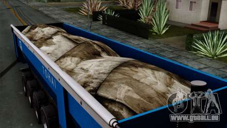 Trailer Tohap pour GTA San Andreas vue de droite