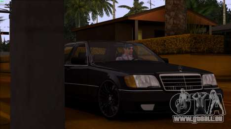 Mercedes-Benz S600 W140 pour GTA San Andreas vue de dessus