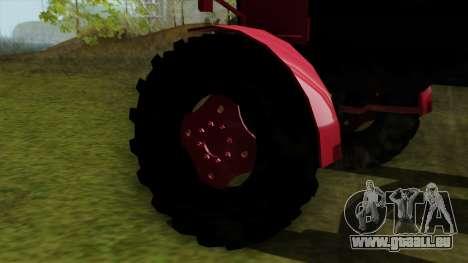 Tracteur MTZ80 pour GTA San Andreas sur la vue arrière gauche