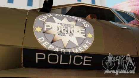 Elegy Police Edition für GTA San Andreas zurück linke Ansicht