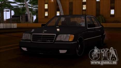 Mercedes-Benz S600 W140 pour GTA San Andreas vue de côté