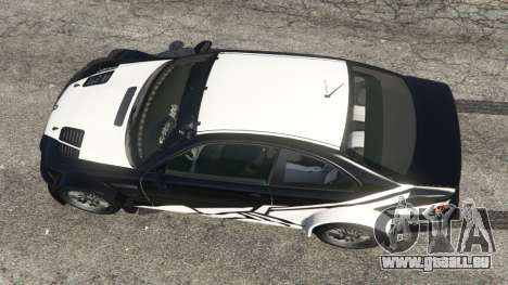 BMW M3 GTR E46 white on black pour GTA 5