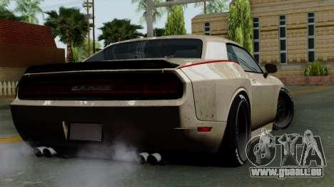 Dodge Challenger GT S pour GTA San Andreas laissé vue