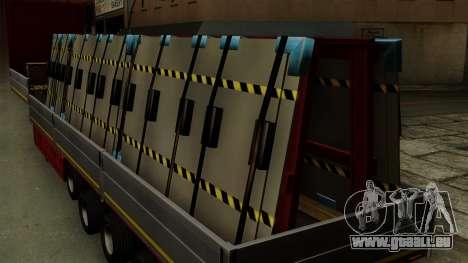 Flatbed3 Red für GTA San Andreas Rückansicht
