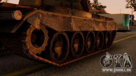 T-55AM Merida pour GTA San Andreas sur la vue arrière gauche