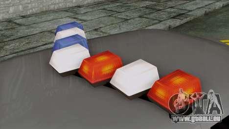Indonesian Police Type 1 pour GTA San Andreas vue arrière
