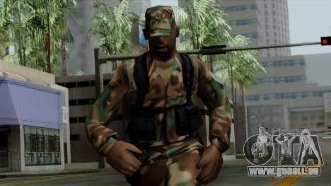 Der Afro-amerikanischen Soldaten in der standard für GTA San Andreas