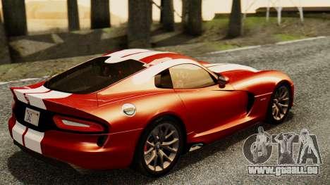 Dodge Viper SRT GTS 2013 IVF (MQ PJ) HQ Dirt für GTA San Andreas linke Ansicht