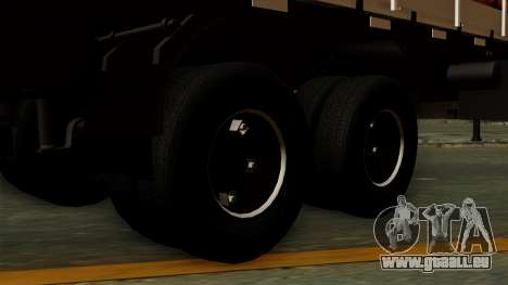 Trailer Cows pour GTA San Andreas sur la vue arrière gauche