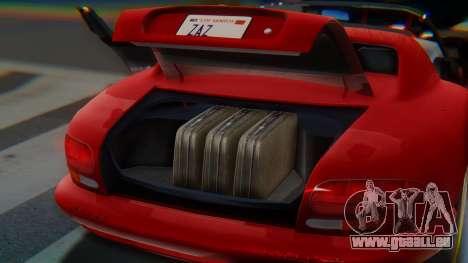 Dodge Viper RT-10 1992 für GTA San Andreas Unteransicht