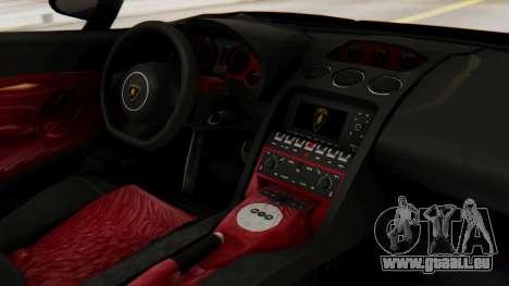 Lamborghini Gallardo J Style für GTA San Andreas rechten Ansicht