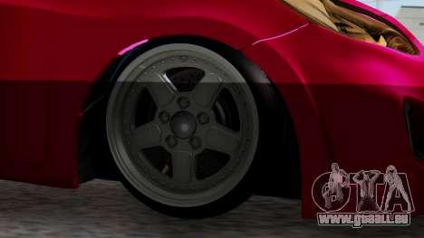 Hyundai Accent Blue pour GTA San Andreas sur la vue arrière gauche