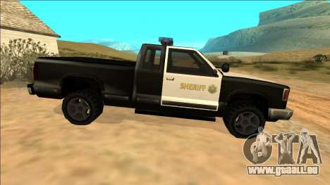 New Yosemite Police v2 für GTA San Andreas Innenansicht