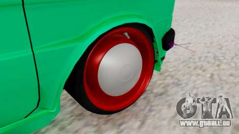 Fiat 126 bis B. O. de la Construction pour GTA San Andreas sur la vue arrière gauche