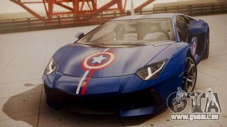 Lamborghini Aventador LP 700-4 Captain America pour GTA San Andreas