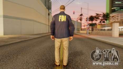 FBI Skin pour GTA San Andreas troisième écran