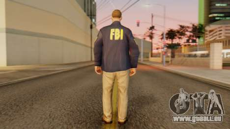 FBI Skin für GTA San Andreas dritten Screenshot