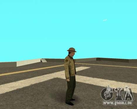 Nouvelle peau pour les flics LVPD pour GTA San Andreas troisième écran