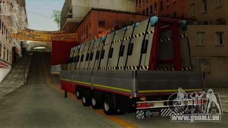 Flatbed3 Red pour GTA San Andreas laissé vue