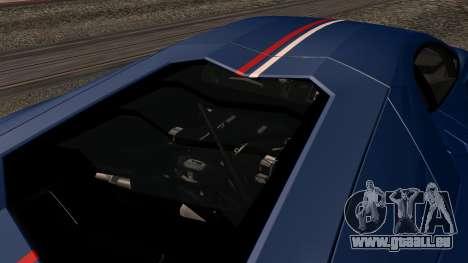 Lamborghini Aventador LP 700-4 Captain America pour GTA San Andreas salon