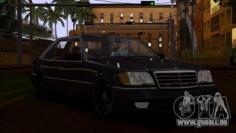 Mercedes-Benz S600 W140 pour GTA San Andreas vue intérieure