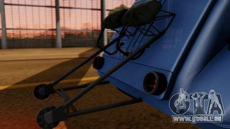 Citroen 2CV (jian) Drag Style Edition pour GTA San Andreas vue arrière