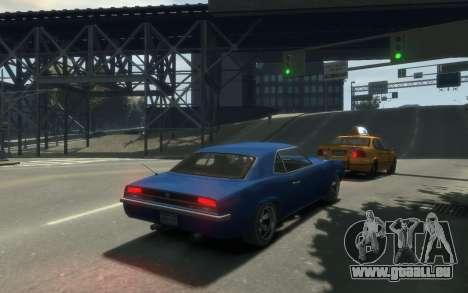 Declasse Vigero Cabrio pour GTA 4 est une vue de l'intérieur