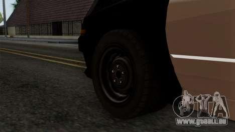GTA 5 LS Police Car für GTA San Andreas zurück linke Ansicht
