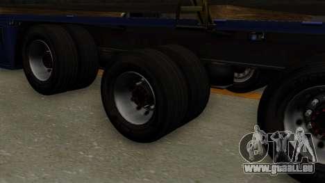 Flatbed3 Yellow pour GTA San Andreas sur la vue arrière gauche