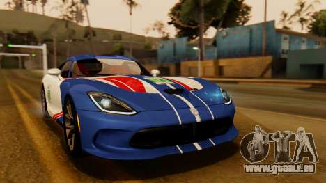Dodge Viper SRT GTS 2013 IVF (HQ PJ) HQ Dirt pour GTA San Andreas vue de dessus