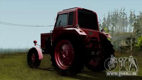 Tracteur MTZ80 pour GTA San Andreas laissé vue