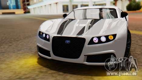 GTA 5 Adder Tire Dirt für GTA San Andreas rechten Ansicht
