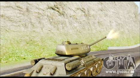 Real 102 Rudy Poland Tanks für GTA San Andreas zurück linke Ansicht
