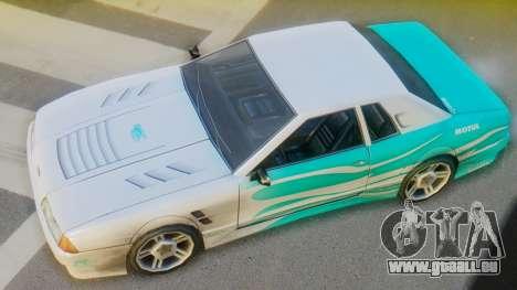 Elegy New Paintjob pour GTA San Andreas sur la vue arrière gauche