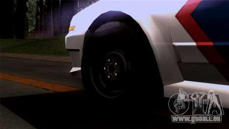 Indonesian Police Type 2 pour GTA San Andreas sur la vue arrière gauche